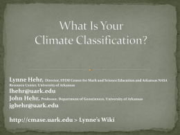 How to determine the sub-climate classification