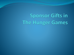 Sponsor Gifts in The Hunger Games