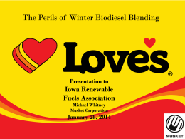 Why We Buy Biodiesel - Iowa Renewable Fuels Association