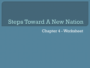 Steps Toward A New Nation