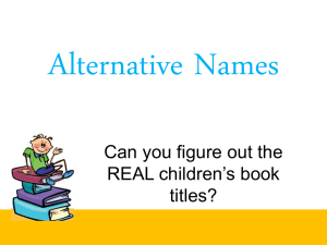 Alternative Names game
