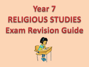Year 7 RS Exam Revision Guide