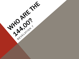 Who are the 144,400? - Know Your Bible South Africa
