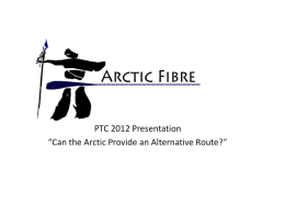 PTC 2012 Presentation - Pacific Telecommunications Council