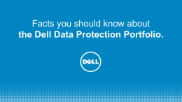 Dell Data Protection 26 Facts