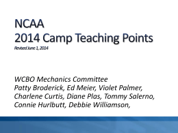 2014 NCAA Women`s Camp Teaching Points (PPT)