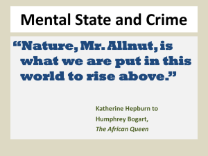 Mental State and Crime