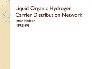 Liquid Organic Hydrogen Carrier Distribution Network