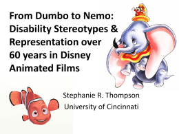From Dumbo to Nemo: Disability Stereotypes and