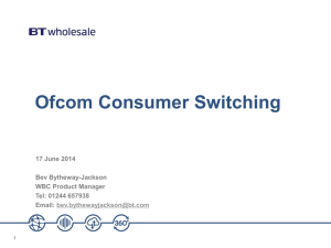 Ofcom Consumer Switching Web call 17 June 2014