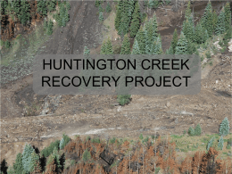 HUNTINGTON CREEK MITIGATION PROJECT