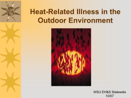 Heat Stress (ppt) - Washington State University at Spokane