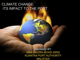 GLOBAL WARMING: IT*S EFFECT TO THE PORT