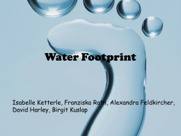 calculate and minimize your water footprint