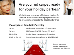Are you red carpet ready for your holiday parties?