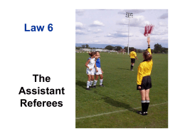 Positioning for the Assistant Referee