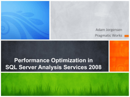 Performance Optimization in SQL Server Analysis