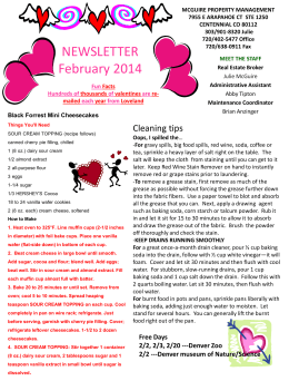 February Newsletter - McGuire Property Management