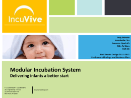 1 st Semester Final Presentation () - Incuvive