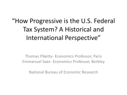 How Progressive is the U.S. Federal Tax System? A Historical and