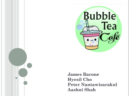 Group 5 - Bubble Tea Cafe