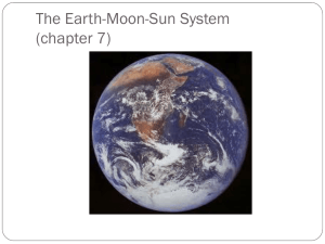 The Earth-Moon-Sun System (chapter 7)