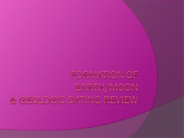 Review PPT - Moon, Earth and Dating