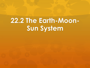 22.2 The Earth-Moon