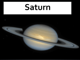 Saturn-Science Project