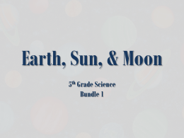 Earth, Sun, & Moon PBL