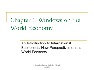 Introduction - An Introduction to International Economics