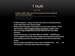 T Tauri Variable Type Star