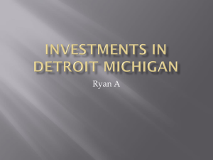 Investments in Detroit Michigan