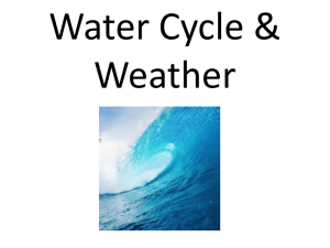 Ch 6 Water Cycle & Weather ppt