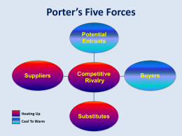 Porter`s 5 Forces – Whole Foods Market
