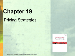 Ch. 19 price strategy