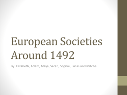 European Societies Around 1492