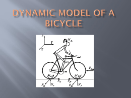 Dynamic model of a bicycle Introduction