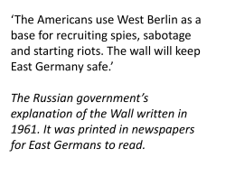 10B lesson 4 cold berlin wall facts