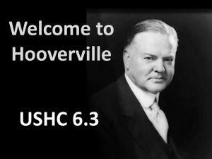 Welcome to Hooverville (USHC 6.3)
