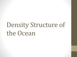 Density Structure of the Ocean