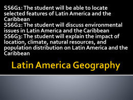 Notes - Latin America Geography