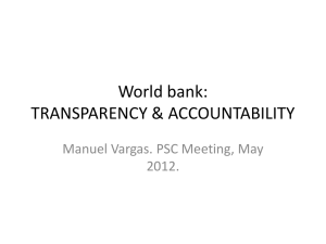 World bank: TRANSPARENCY & ACCOUNTABILITY