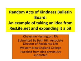 Random Acts of Kindness Bulletin Board