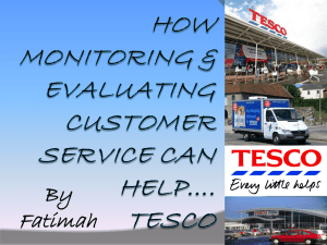 Tesco merit work