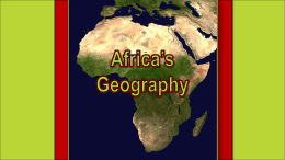 Geography of Africa - Effingham County Schools