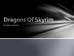 Dragons Of Skyrim