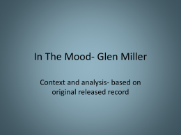 In The Mood- Glen Miller