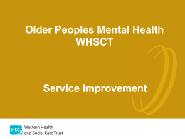 Older Peoples Mental Health WHSCT Service