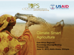 Climate Smart Agriculture - Food Security and Nutrition Network